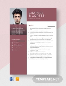 Public Safety Officer Resume Template