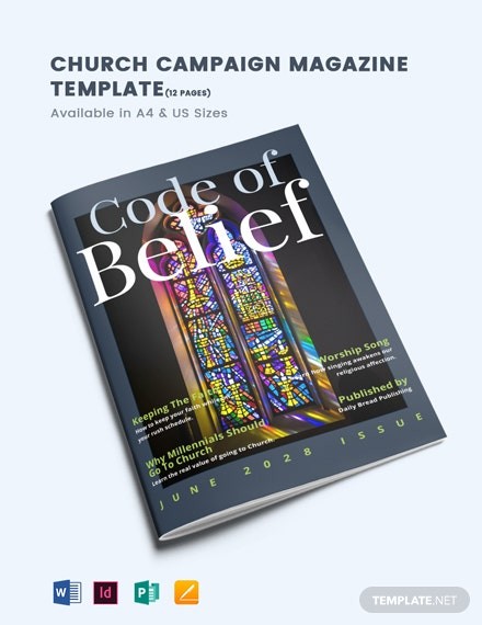 Church Campaign Magazine Template