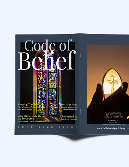 Custamize Church Campaign Magazine Template