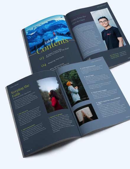 Download Church Campaign Magazine Template