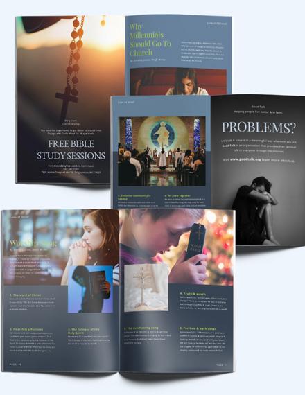 Sample Church Campaign Magazine Template