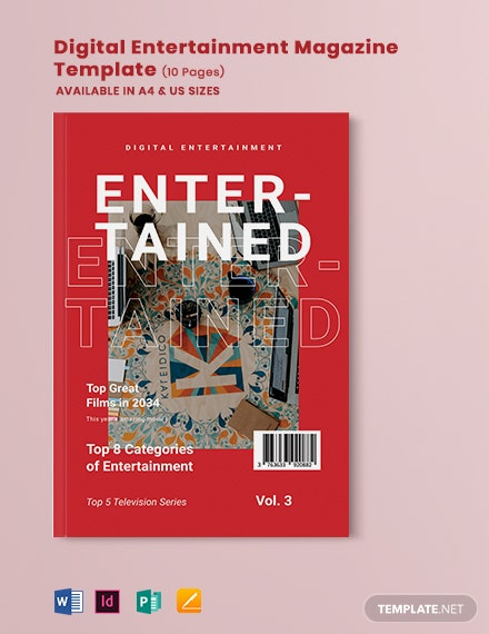 digital entertainment magazine template