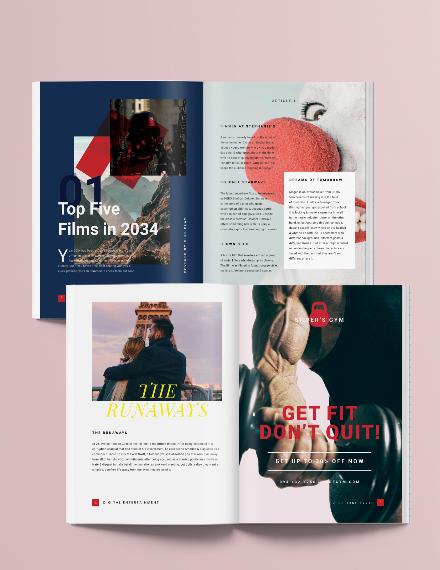 Sample Digital Entertainment Magazine Template