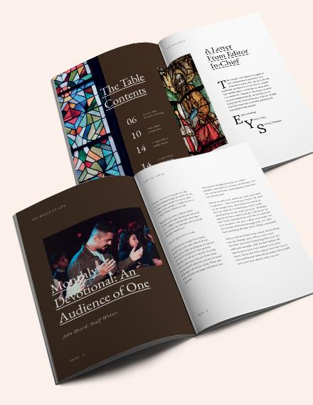 Download Editable Church Magazine Template