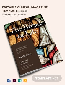 Editable Church Magazine Template