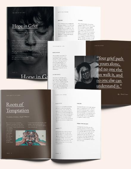 Sample Editable Church Magazine Template