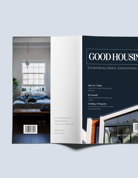 Custamize Editable Realestate Magazine Template