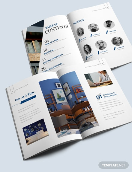 Download Editable Realestate Magazine Template