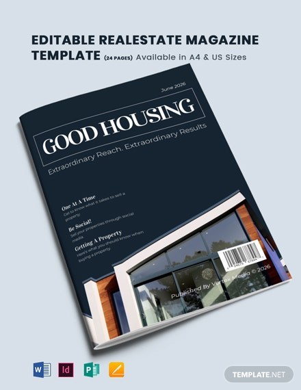 Editable Real Estate Magazine Template