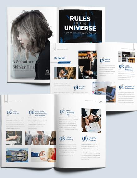 Sample Editable Realestate Magazine Template