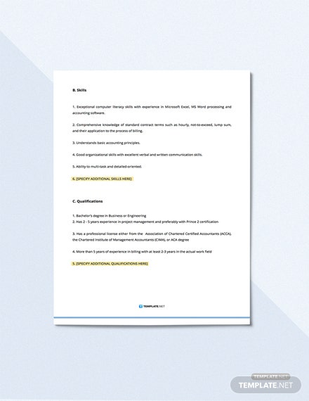 Project Accountant Job Description Download