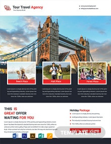 FREE Tour Travel Flyer Template