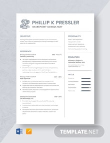 Sharepoint Consultant Resume Template