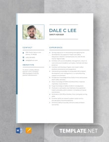 Safety Advisor Resume Template