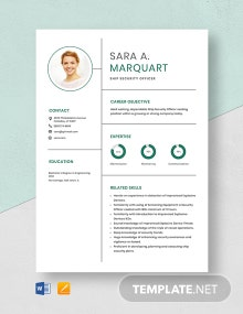 Ship Security Officer Resume Template