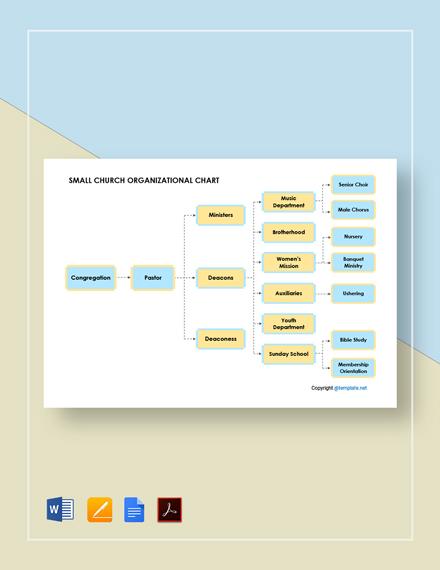 Free Small Church Organizational Chart Template