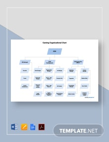 Free Sample Gaming Organizational Chart Template