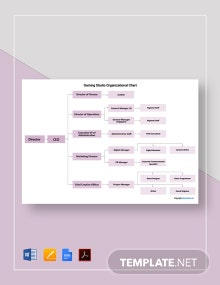 Free Gaming Studio Organizational Chart Template
