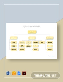 Free Video Game Company Organizational Chart Template