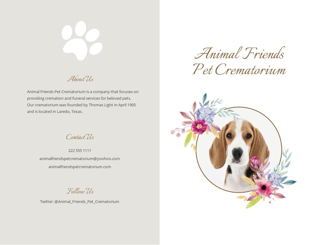 Pet Cremation Funeral Bi Fold Brochure Template.jpe