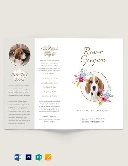 Pet Cremation Funeral Brochure Template