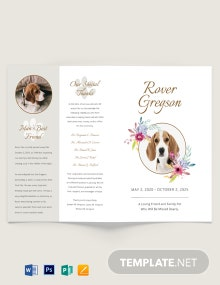 Pet Cremation Funeral Bi-Fold Brochure Template