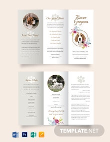 Pet Cremation Funeral Tri-Fold Brochure Template