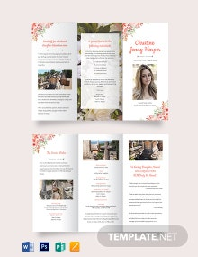 Plan Funeral Memorial Tri-Fold Brochure Template
