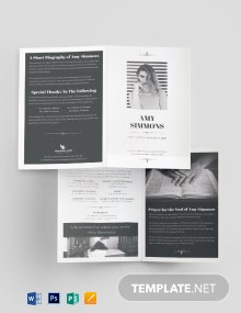 Plan Funeral Program Bi-Fold Brochure Template