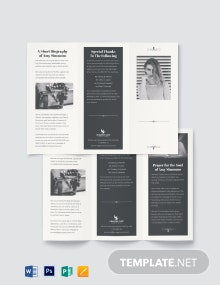 Plan Funeral Program Tri-Fold Brochure Template