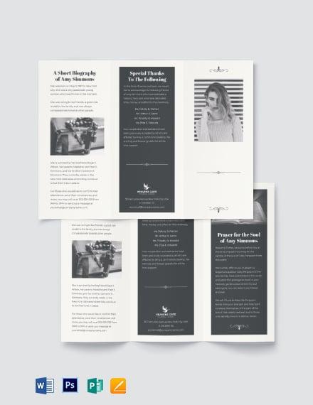 Plan Funeral Program Tri-Fold Brochure Template