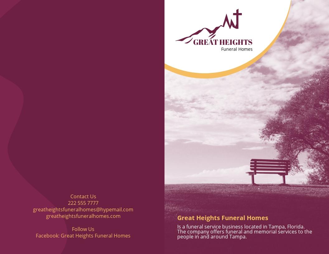 Planning a Funeral Service Bi Fold Brochure Template.jpe