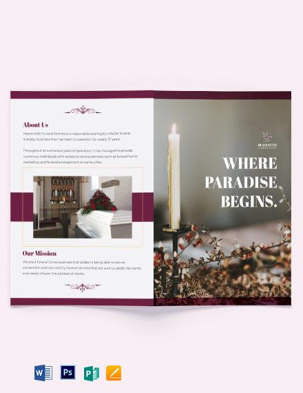 Planning a Funeral Service Bi-Fold Brochure Template