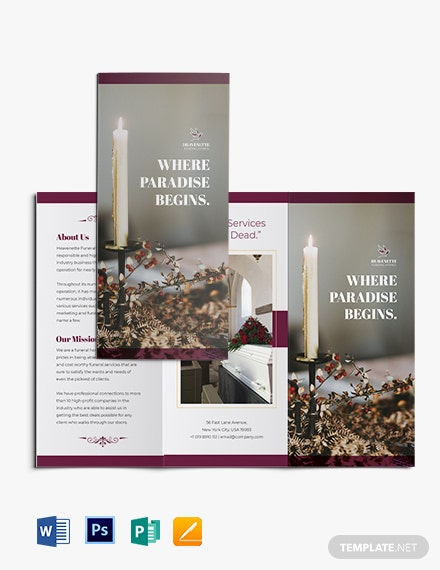 Planning a Funeral Service Tri-Fold Brochure Template