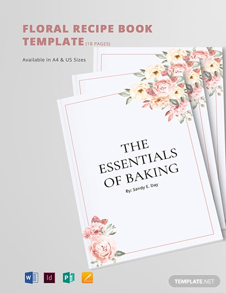 Floral Recipe Book Template