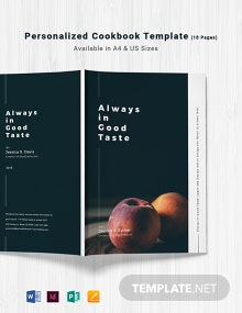 Personalized Cookbook Template