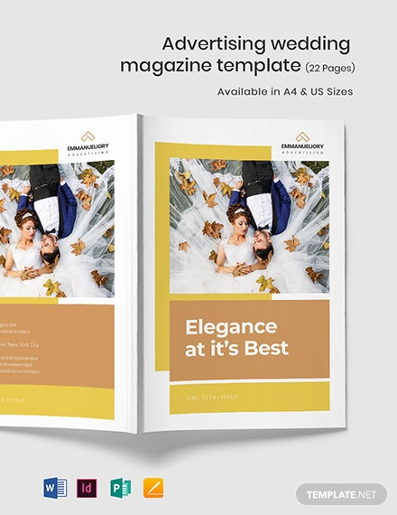Advertising Wedding Magazine Template