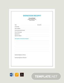 Free Donation Receipt Template