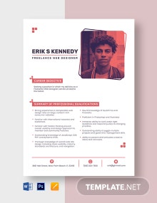 Freelance Web Designer Resume Template
