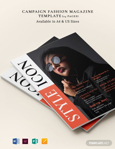 Campaign Fashion Magazine Template