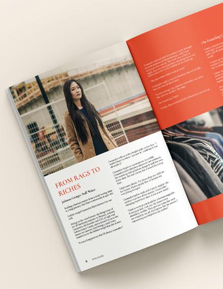 Customize Campaign Fashion Magazine