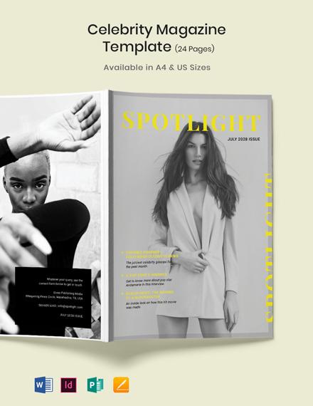 Celebrity Magazine Template