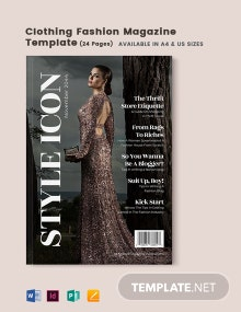 Clothing Fashion Magazine Template