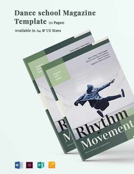 Dance School Magazine Template