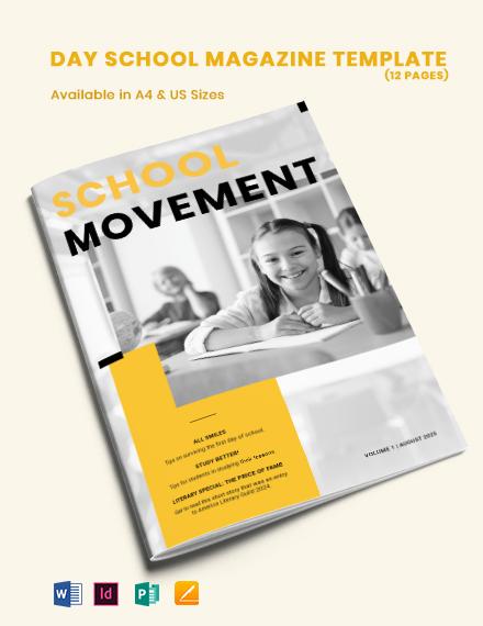 Day School Magazine Template