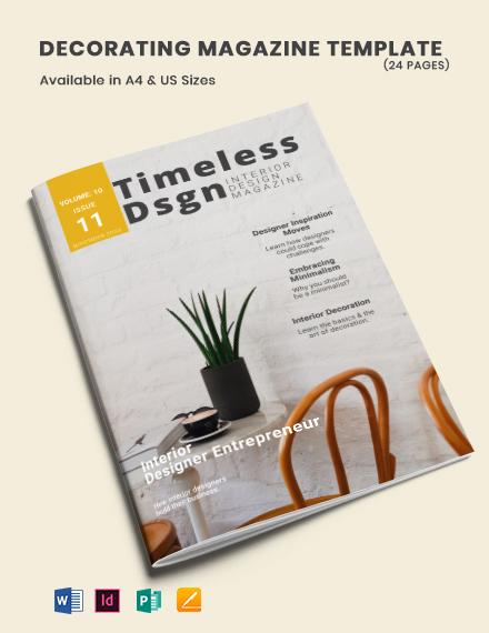 Decorating Magazine Template