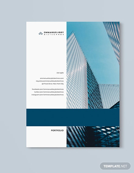Company Portfolio Template [Free Pages] - InDesign, Word, Apple Pages, Publisher