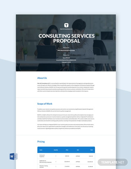 Editable Free Business Proposal Template