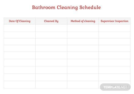 bathroom cleaning schedule template in microsoft word apple pages