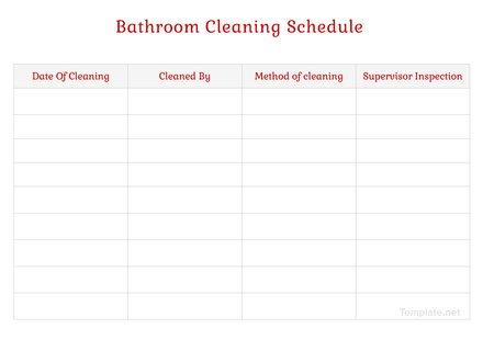 bathroom cleaning schedule template download 128 schedules in word